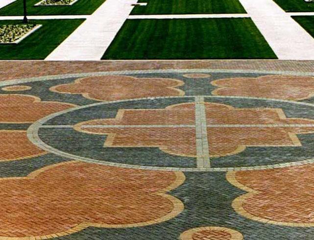Plaza at Friend's University in Wichita, KS: Paver plaza installation