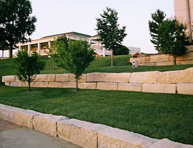 Gander Mountain in Wichita, KS: Paver/retaining wall installation
