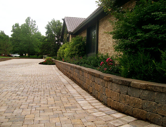 Stone steps/driveway and plaza, back patio in Wichita, KS