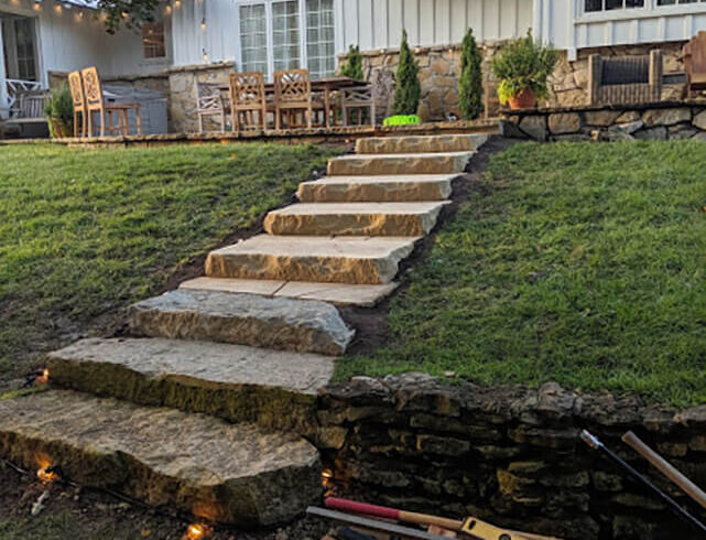 tone stairway/driveway installation near Andover, KS