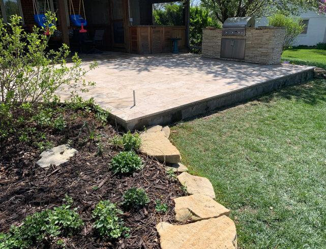 Custom stone patio, custom outdoor stone kitchen in Wichita, KS