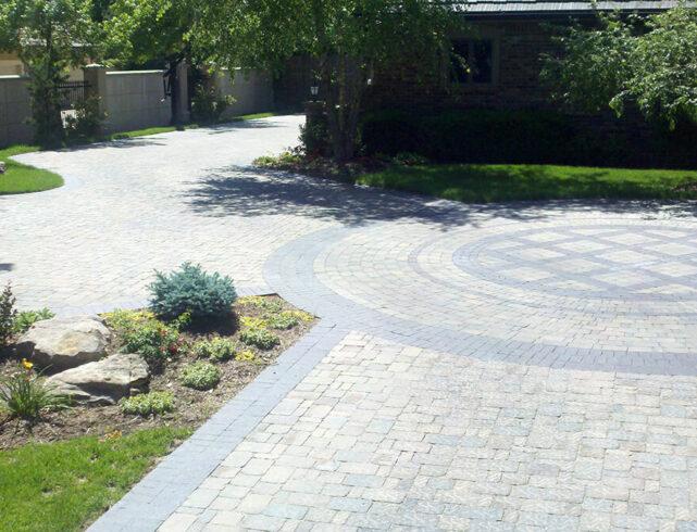 Stone driveway installation in Wichita, KS